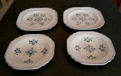 ~Limoges China USA Plates Ripple Design~ 4 Bread Dessert~ Vintage~