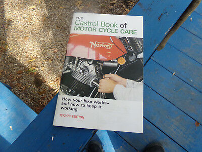 Castrol Book Of Motor Cycle Care Norton Commando  Triumph  Trident Four Stroke