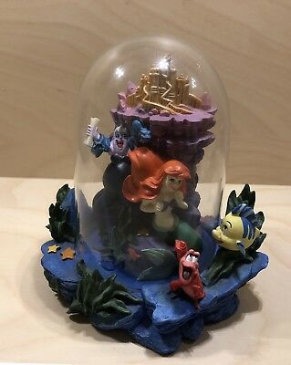 Disney's The Little Mermaid ~ 360 Collectible Scenic Piece w/Glass Cover - Rare