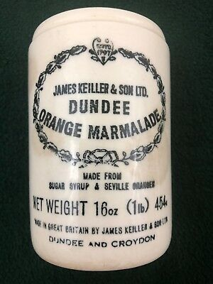 James Keiller & Sons LTD DUNDEE ORANGE MARMALADE Ceramic Jar Crock vtg