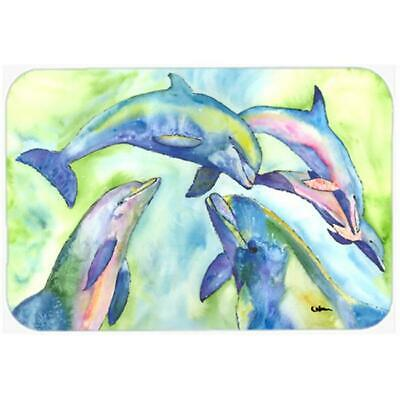 Carolines Treasures 8548LCB Dolphin Glass Cutting Board - Large 15 H x 12 L in.
