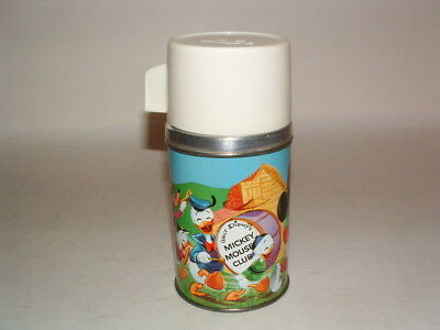 1963 Walt Disney ( White ) Mickey Mouse Club  Metal Thermos Only ( Near Mint )