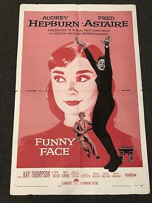 Audrey Hepburn Fred Astaire FUNNY FACE 1957 Movie Poster 27 x 41