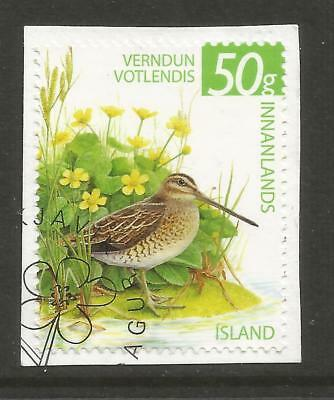 ICELAND 2011  WETLAND CONSERVATION ON A PIECE, SCOTT 1307, USED (o)