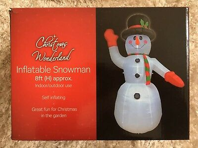 Brand New Christmas Wonderland Inflatable Snowman 8ft Approx