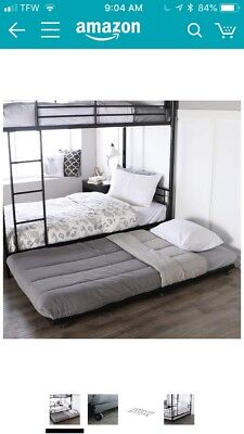 Walker Edison Twin Roll Out Trundle Bed Frameblack Brand New