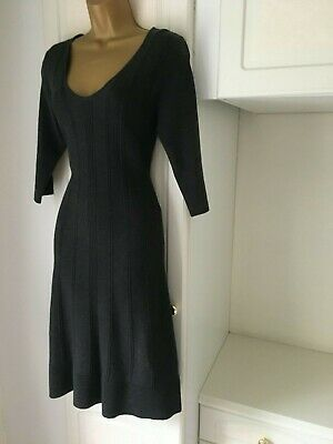 Smart Unlined Jumper Dress By Monsoon In Vg Con Size Uk 12 Bust 36""