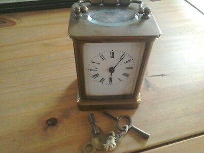 Brass Carriage Clock ( Needs Attention ).