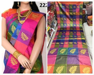 Indian Ethnic Festive wear Satin Saree with Jari and Digital Print with Blouse