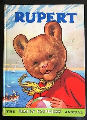 RUPERT BEAR ANNUAL 1959 Doubly Inscribed Not Price Clipped Comp Untouched VG/F