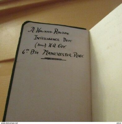 WW1 British Intelligence Officer 6th Manchesters Italian English Dictionary