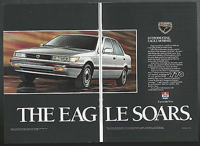 1989 EAGLE SUMMIT 2-page advertisement, large photo, The Eagle Soars ad