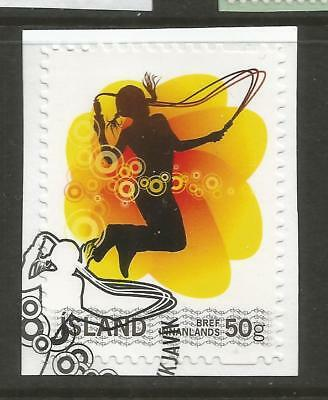 ICELAND 2008 PERSONAL STAMP ON A PIECE, SCOTT 1190, USED (o)