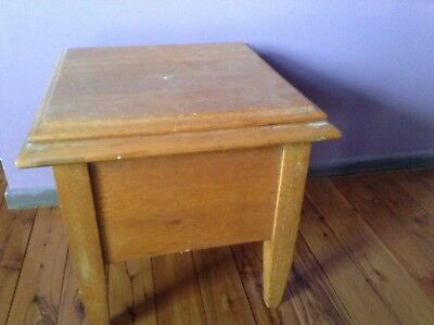 Antique Chamber Commode with original ceramic Pot -Toilet Potty, Box