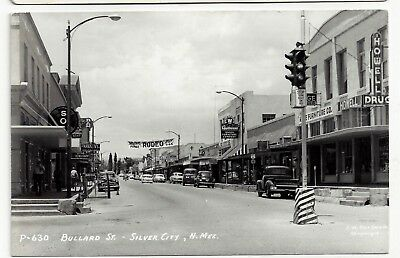 RP Silver City New Mexico Street Scene ca1950 Postcard