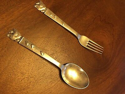 Childs Danish Silver 830S Fork and Spoon/Vintage 1946