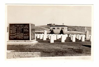 Real Photo Postcard Custer Battlefield National Cemetery Museum Infantry Monumen