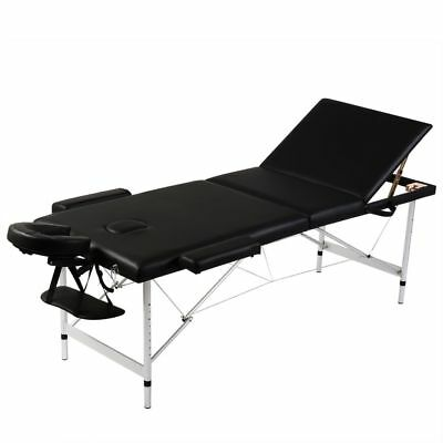 vidaXL Mobile Alu Massagetisch Massagebank Liege Kosmetik Therapieliege 3 Zonen