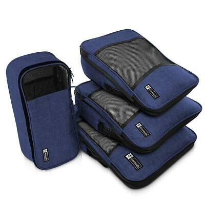 Compression Packing Cubes Travel Luggage-Organizer Set Packs More Navy Blue