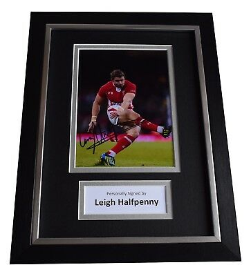 Leigh Halfpenny Signed A4 Framed Autograph Photo Display Wales Rugby Union COA