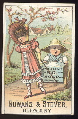 1880S Trade Card Advertising Gowans & Stover 'u.g.' Soap, Buffalo, N.y.