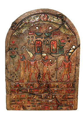 "Huge 46"" Ancient Egyptian Ceremonial Stele Relief Sculpture Replica Reproduction"
