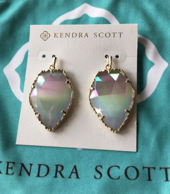 Kendra Scott Discontinued Iridescent Slate Crystal Corley Earrings