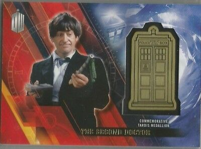 Doctor Who TIMELESS Medallion insert trading card THE Second DOCTOR #3/5