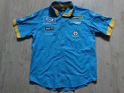NEUF ancienne chemise brodée renault sport ALONSO 2004 2005 formule 1 F1  L