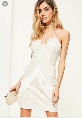 White Lace Dress 0 Missguided