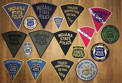 Indiana State Police Lot 18 patches