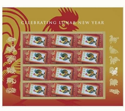 5154 Lunar New Year of the Rooster Forever Sheet of 12