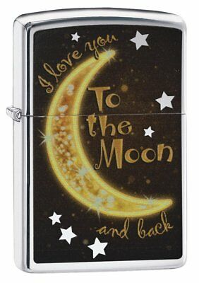 Zippo Golden Moon Regular Lighter - High Polish Chrome