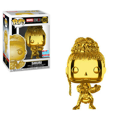 Funko Pop! Shuri Gold Chrome NYCC 2018 Shared Exclusive In Hand