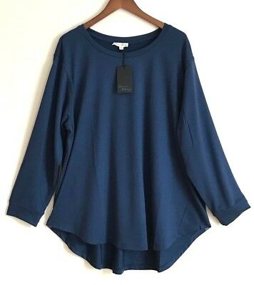 ced3a389758 🏬 JANE AND Delancey Womens Blue Sweater Top Blouse Tunic Plus Size ...