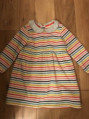 Girls Mini boden Rainbow Striped Dress, Aged 3-4 Years