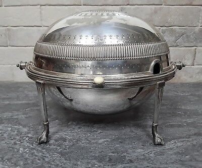Antique, 1904, Walker and Hall Silver Plate Breakfast Warmer