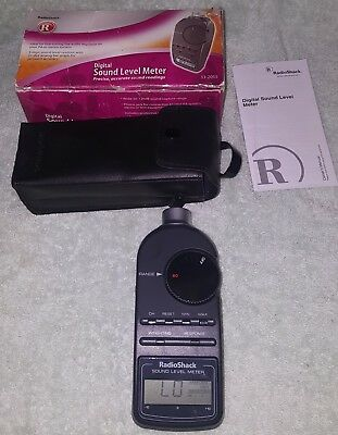 Radio Shack 33-2055 Digital Sound Level Meter-Decibel Meter TESTED/MINT