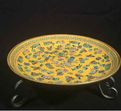 Asian Hand Painted Vintage Shallow Bowl.  Beautiful!