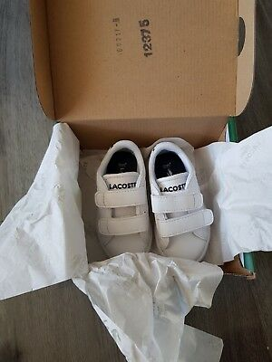 Brand new in box infant Lacoste size 3.5
