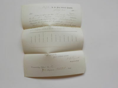 Civil War Document 1864 98th United Stated Colored Infantry Surgeon
