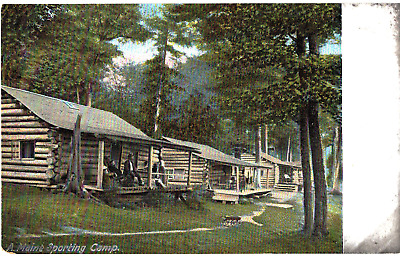 Postcard Vintage 1900s A Maine Sporting Camp