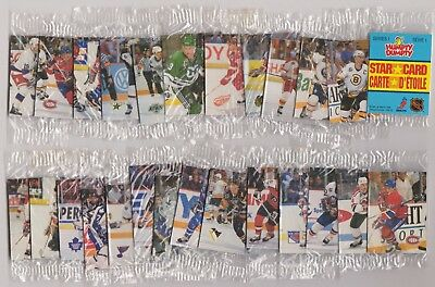 1992-93 Humpty Dumpty Series 1 Hockey Set Complete (26) In Cello Packs