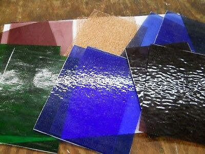 Pastel Color Spectrum Stained Glass Pack 8 X10 Stained Glass
