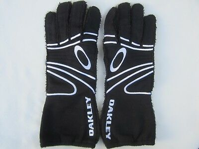 OAKLEY RACING GLOVES Race CARBON X GLOVES Black SFI/FIA STANDARD 8856 NOS New