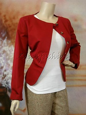 036e93ced45  1650 New YSL YVES SAINT LAURENT Cranberry Red Cotton Raw Silk Jacket 8 40