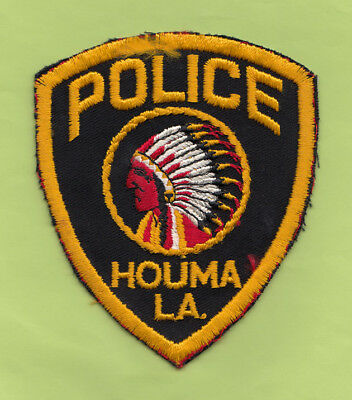 A5 * Htf Old Houma Louisiana Police State Patch New Orleans Cheesecloth