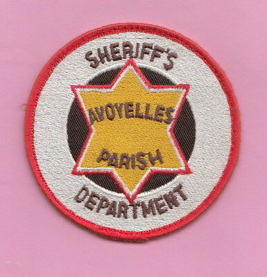 A4 * Htf Old Avoyelles Parish Sheriff Louisiana Police State Patch New Orleans