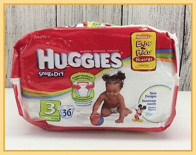 🔴 Huggies Snug & Dry Size 3 Disney Babies Diapers Approximately 17 Opened Pack
