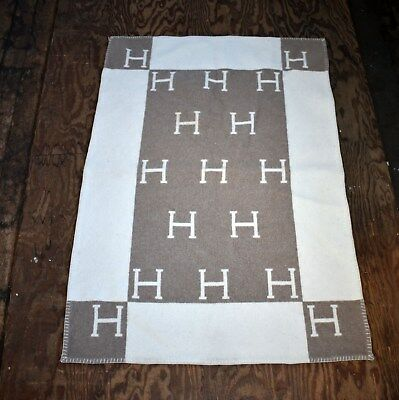 Fine Hermes Avalon Baby Wool Cashmere Blanket - Throw - Authentic